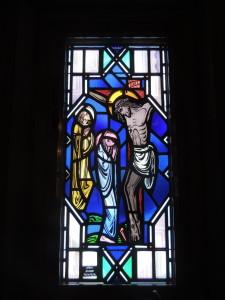 stain glass Jesus cross